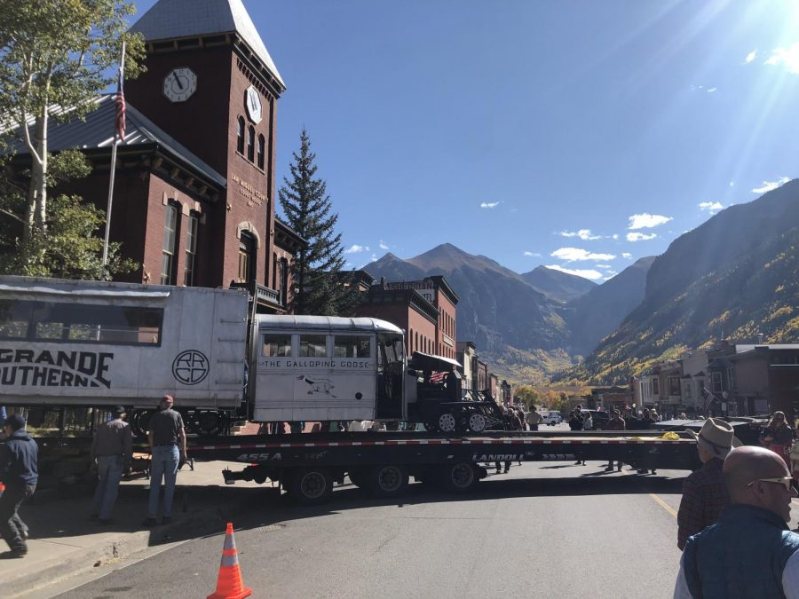 Telluride%27s+Galloping+Goose+No.+4+took+a+trip+to+Ridgway+for+the+%22Gathering+of+the+Flock%2C%22+part+of+Ouray+County+Railroad+Days.++