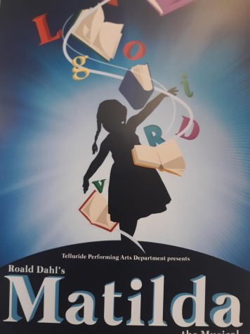 Matilda poster as advertised in Angela Watkins classroom