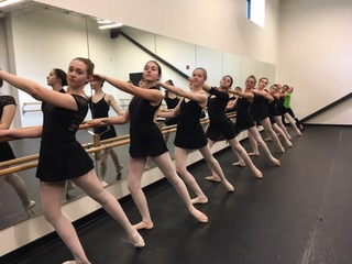 Palm Arts Dance ballerinas practice for The Wizard of Oz