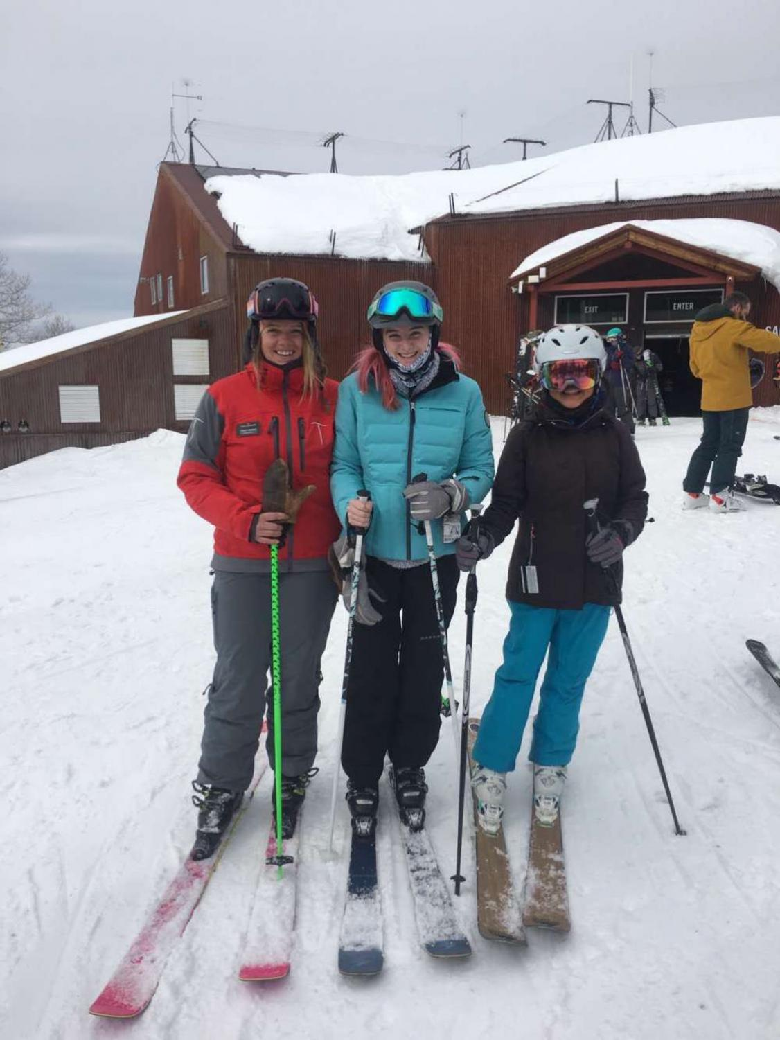 TMHS students wait to hit the slopes with ski PE instructor