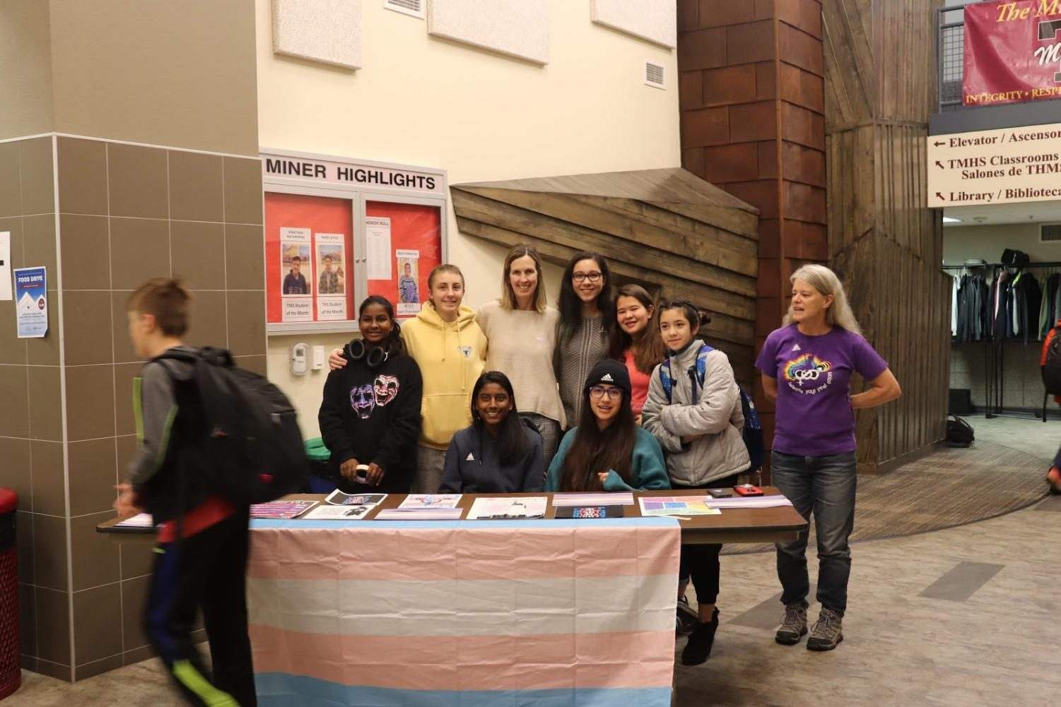 THS Gay-Straight Alliance honors and shares awareness of Transgender Day of Remembrance.