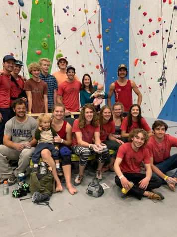 TMHS Climbing  Club members relax after a competition in Grand Junction.