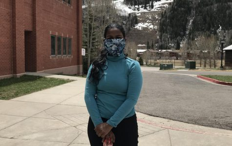 THS senior Mariam Hoover gets outside while social distancing.
