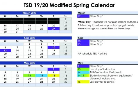 TSD Modified Spring Calendar, included added